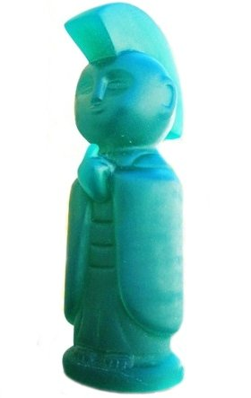 Jizo-Anarcho - Lulubell Toy Bodega Exclusive  figure by Toby Dutkiewicz, produced by DevilS Head Productions. Front view.