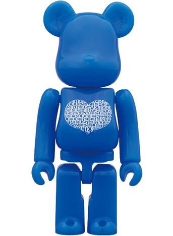 International Love Heart Azur Be@rbrick 100% - Medicom Toy 15th Anniversary Exhibition
