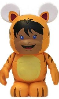 Tiger Kid figure by Maria Clapsis, produced by Disney. Front view.