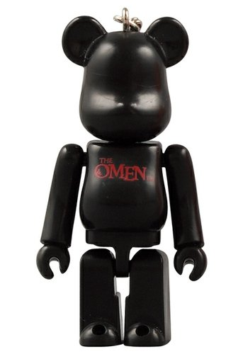 The Omen 70% Be@rbrick   figure, produced by Medicom Toy. Front view.