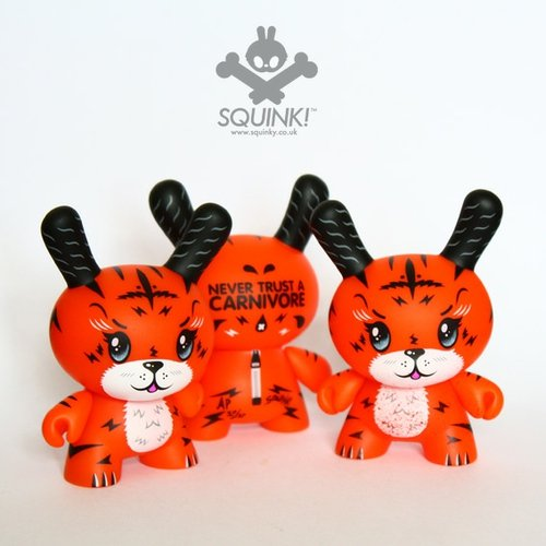 Ken The Mysterious Tiger - Artist Edition figure by Squink!, produced by Kidrobot. Front view.