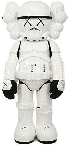 Stormtrooper Companion figure by Kaws, produced by Medicom Toy. Front view.