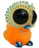 Baby Owl - Blue Orange GID