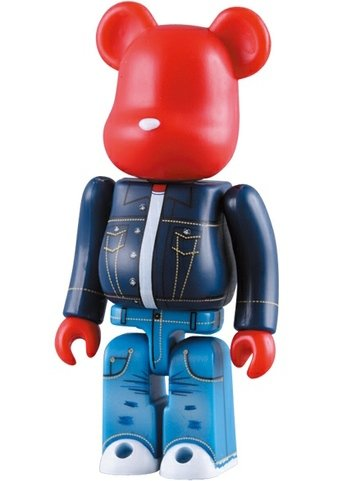 Levis 501 Be@rbrick 100% figure by Levi Strauss, produced by Medicom Toy. Front view.