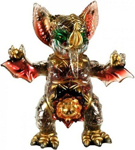 Mockbat A - 43 figure by Paul Kaiju X Blobpus. Front view.