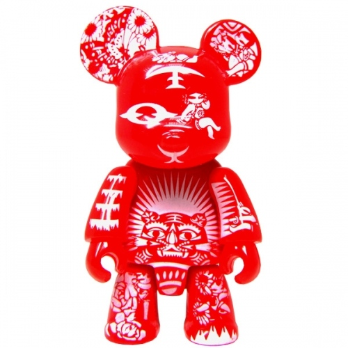 Paper Cut Qee Bear - Red Edition