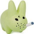 Glow Labbit figure by Frank Kozik, produced by Kidrobot. Front view.