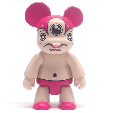 Russell Pink figure by Dalek, produced by Toy2R. Front view.