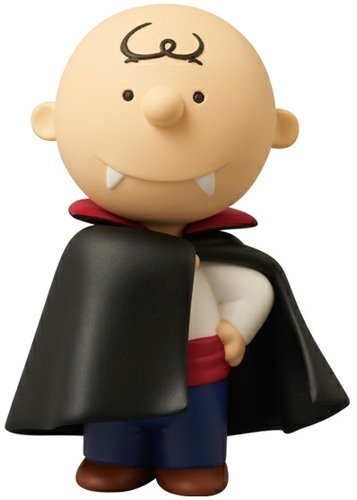 Charlie Brown (Vampire Ver.) UDF No.181 figure by Charles M. Schulz, produced by Medicom Toy. Front view.