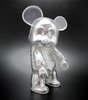 "7 "" Qee Transparent Silver Skull"