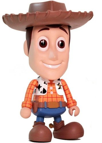 M Size Woody figure by Disney X Pixar, produced by Hot Toys. Front view.