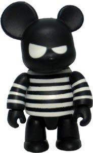 Striped figure by Steven Lee, produced by Toy2R. Front view.