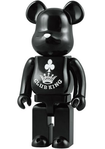 Clubking Be@rbrick 400% figure, produced by Medicom Toy. Front view.