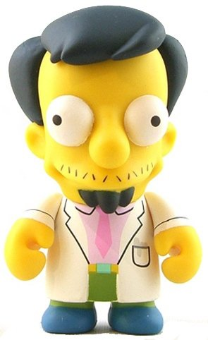 Dr. Nick figure by Matt Groening, produced by Kidrobot. Front view.