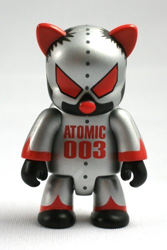 Atomic Cat figure by Mad Barbarians, produced by Toy2R. Front view.