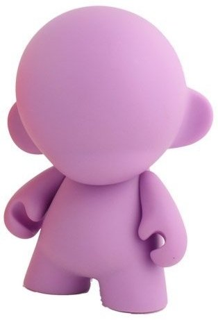 Mini Munny - Violet DIY figure, produced by Kidrobot. Front view.
