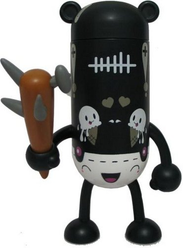 LMAC Zombie figure by Tado, produced by Lmac.Tv. Front view.
