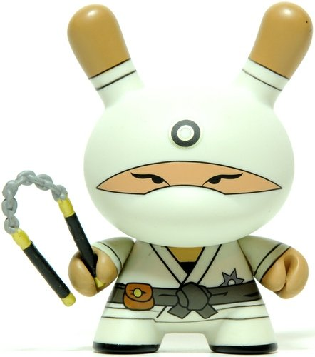 Zero Clan Ninja figure by Huck Gee, produced by Kidrobot. Front view.