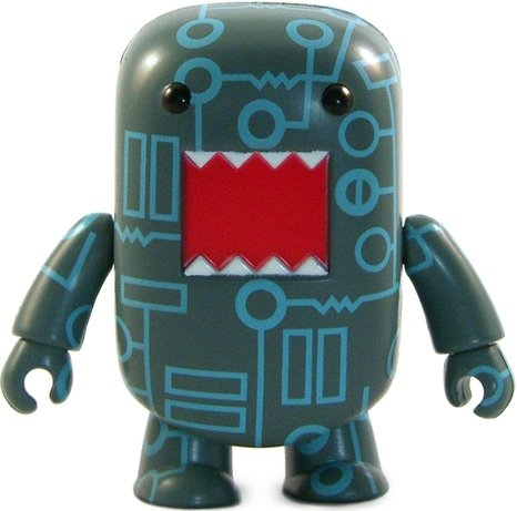 Circuit Board Domo Qee figure by Dark Horse Comics, produced by Toy2R. Front view.