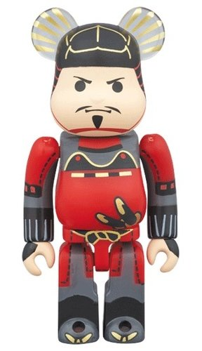 Toyotomi Hideyoshi BE@RBRICK 100% figure, produced by Medicom Toy. Front view.