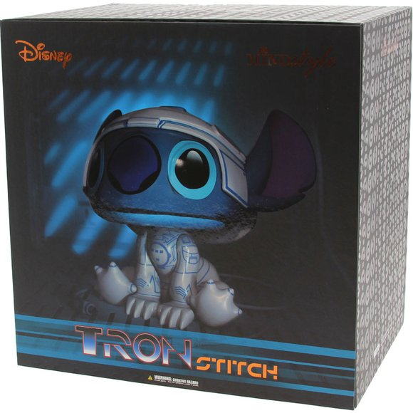 Tron Stitch  figure by Scott Zillner, produced by Mindstyle. Packaging.