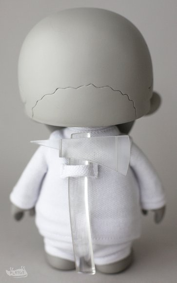 Trouble Boys S00? [NKD] Retail figure by Brandt Peters X Ferg, produced by Playge. Back view.