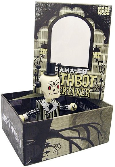 Gama-Go Deathbot - Undertaker figure by Tim Biskup, produced by Ningyoushi. Packaging.