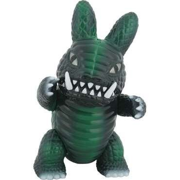 Usagi-Gon - Green figure by Frank Kozik, produced by Wonderwall. Front view.