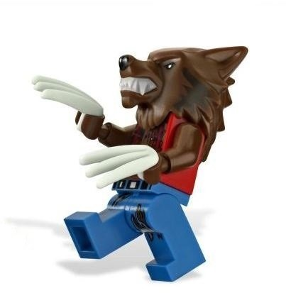Werewolf figure by Lego, produced by Lego. Front view.