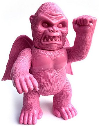 Wing Kong - Blank Pink - Lucky Bag 2015 figure by Brian Flynn, produced by Super7. Front view.
