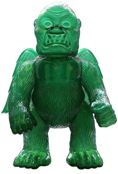 Wing Kong - Clear Green - SSSS Exclusive figure by Brian Flynn, produced by Super7. Front view.
