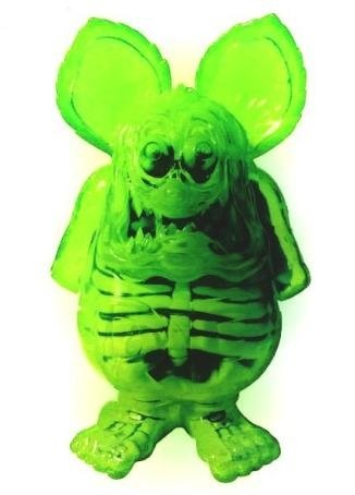 X-Ray Rat Fink figure by Ed Roth, produced by Secret Base. Front view.