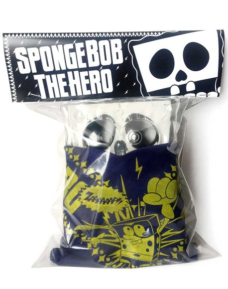 X-Ray SpongeBob SquarePants - Bandana Set (Navy) figure by Stephen Hillenburg, produced by Secret Base. Packaging.