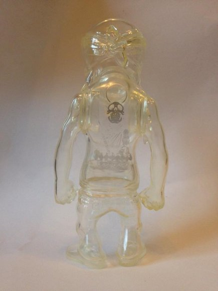 Rebel Ink SC Prototype - Silver Print figure by Usugrow, produced by Secret Base. Back view.