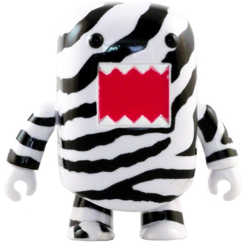 Zebra Stripes Domo Qee figure by Dark Horse Comics, produced by Toy2R. Front view.